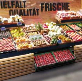 Obst- und Gemüse-Präsentation
